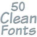 Fonts for FlipFont 50 Clean icon