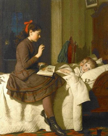 "Joseph Guy Seumour ""The bed time story"" 1878"