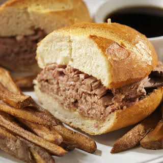 Crockpot Beef Dip Sandwiches with Broth.