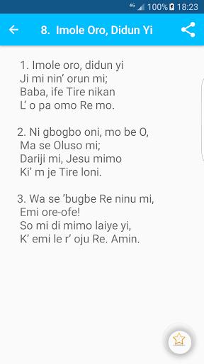 Iwe Orin Mimo - Anglican Yoruba Hymnal App Report on Mobile Action