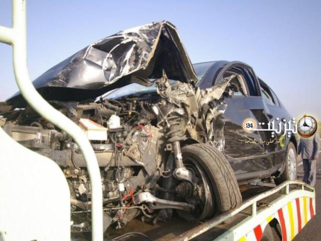 مقتل سائق سيارة أجرة وإصابة ستة آخرين بجروح متفاوتة الخطورة قرب قنطرة ماسة / مرفق بصور