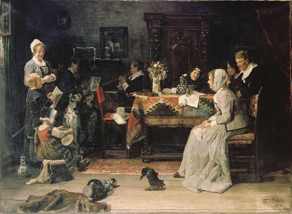 Fritz von Uhde - Familienkonzert (1881)