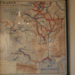 Musée de la Batellerie : carte des voies navigables de France