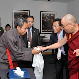 An Organizing Committee Member meets His Holiness the Dalai Lama