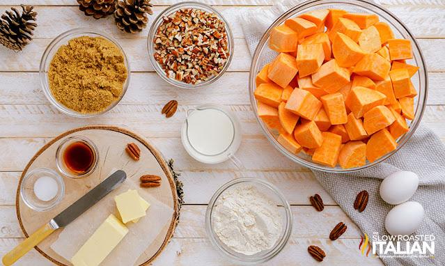pecan sweet potato casserole ingredients