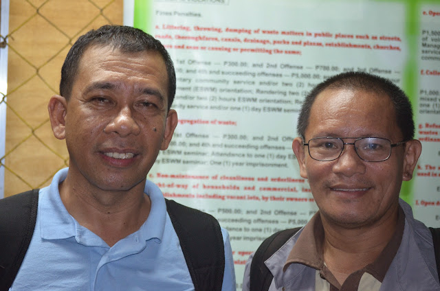 Ex-Military Reservist as Journalist. Joseph Jubelag (left), a journalist based in General Santos City, described how para-military groups like the Citizens' Armed Forces Geographical Units (CAFGU) function. They are used by some political warlords, big companies, especially (those engaged in) mining to protect their interests.At right is Aquiles Zonio, an Ampatuan Massacre survivor who served as guide of the 2014 SEAPA fellows.