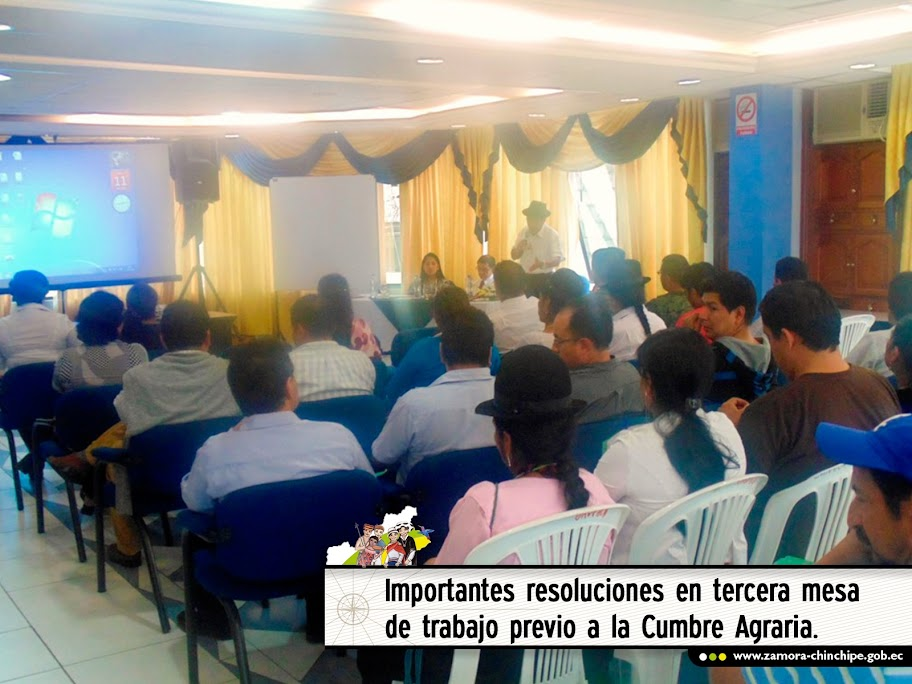 IMPORTANTES RESOLUCIONES EN TERCERA MESA DE TRABAJO PREVIO A LA CUMBRE AGRARIA.