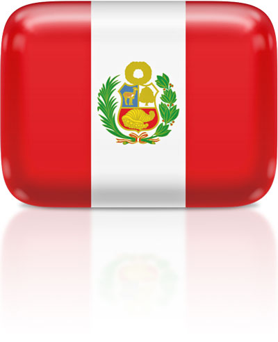 Peruvian flag clipart rectangular