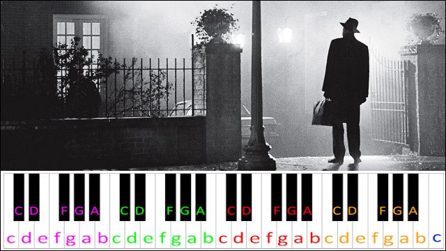 The Exorcist Theme ~ Piano Letter Notes