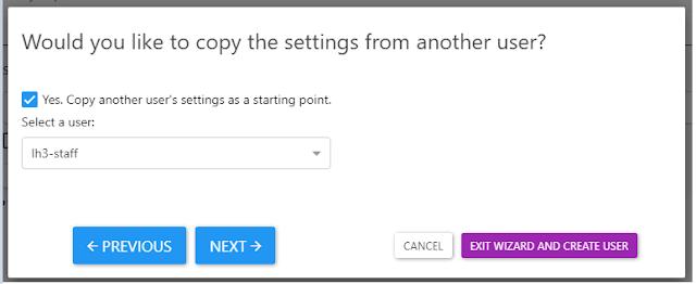 Screenshot of cloning a user