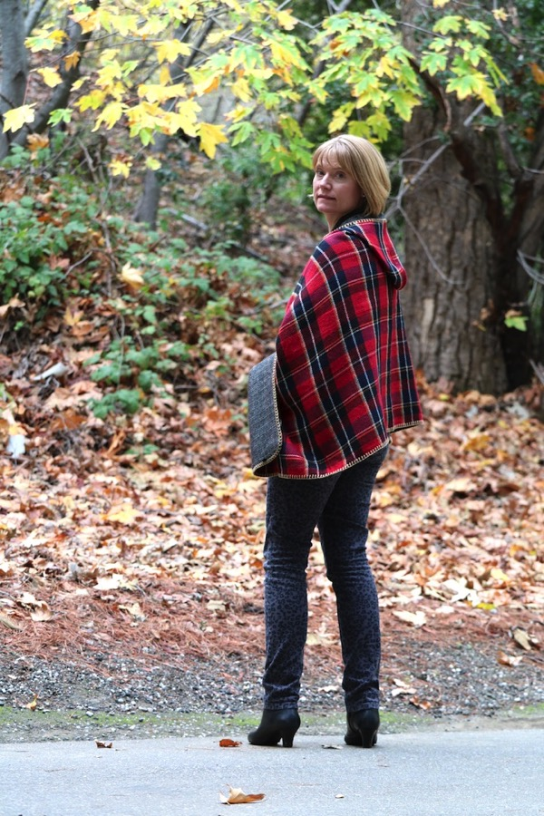 Jacket Society Plaid Poncho 4