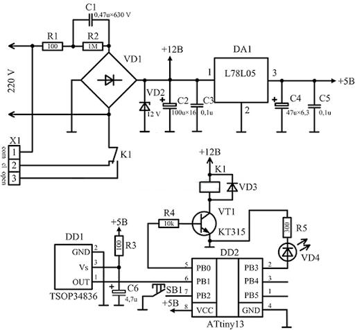 intrerupator cu telecomanda  u2013 schema electrica  u00ab scheme