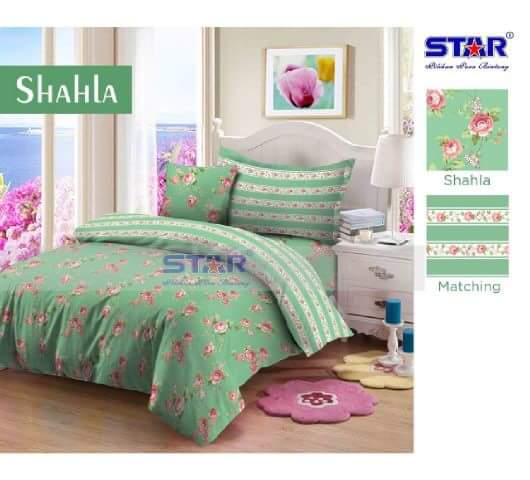 sprei motif Shahla cotton star