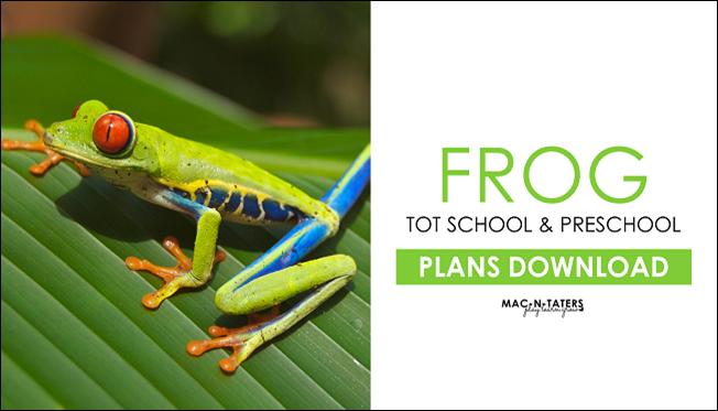 Frog Tot School & Preschool Plans