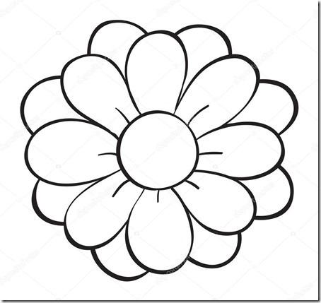 flore sencillas para colorear  (22)