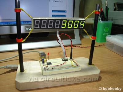 AVR based website hit counter