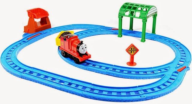 Bộ đồ chơi Tàu hỏa James và đường ray trạm Knapford Fisher Price BGL97 thú vị hấp dẫn