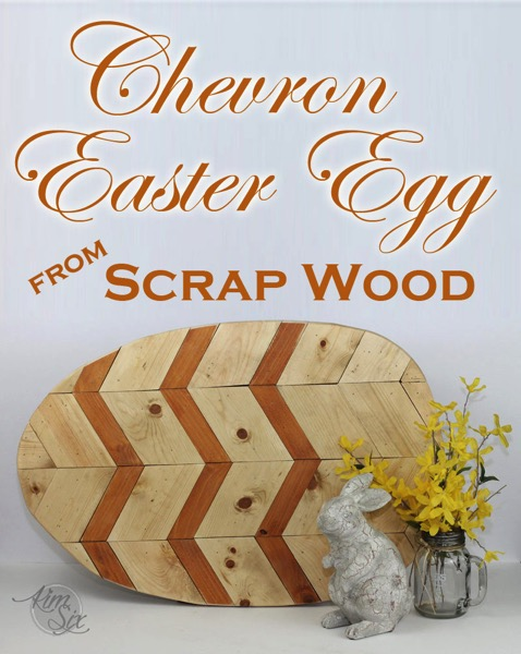 Chevron Easter Egg from Scrap Wood. An easy DIY project to get rid of those short board scraps