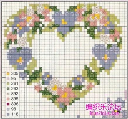 corazones en punto de cruz laborespuntocruz (27)