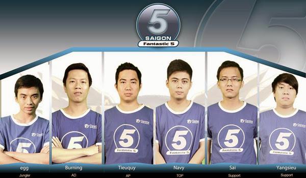 LMHT: Saigon Fantastic Five thay đổi đội hình thi đấu 1
