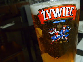 this is the national beer of Poland, and those Poles look like they're having a hell of a good time