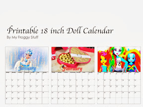 and hey who says they are just for dolls i think i am going to print out an extra 18 inch sized calendar for my desk xd happy crafting od