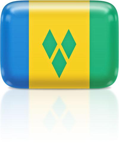 Saint-Vincentian, Vincentian flag clipart rectangular