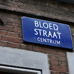 bloed straat centrum in Amsterdam, Noord Holland, Netherlands