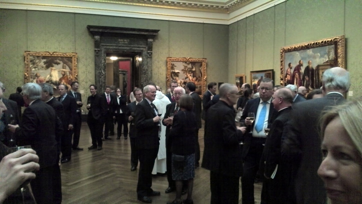 Drinks in Room 8 at the National Gallery, taken on my little phone.