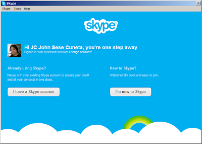 Merge WLM/MSN Messenger with Skype: Step 3