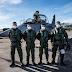 Pilotos de Caça realizam o primeiro voo de instrução na aeronave JAS-39D Gripen