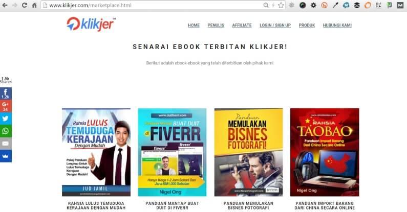 Platform Affiliate Malaysia Klikjer Marketplace