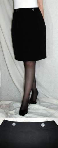 Burda 01-2009-128: Skirt (wool gabardine)