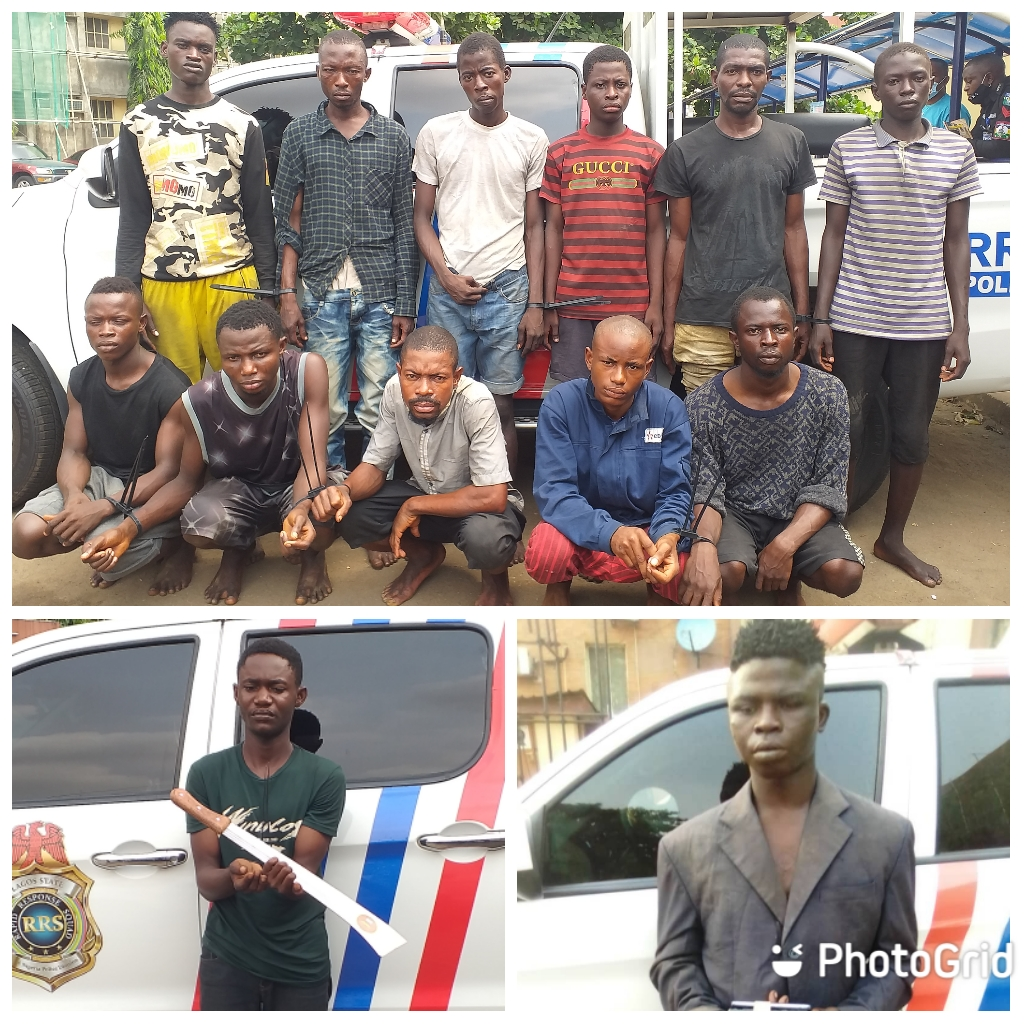 Arrested 15 Traffic Armed Robbers ln Lagos (Photos)