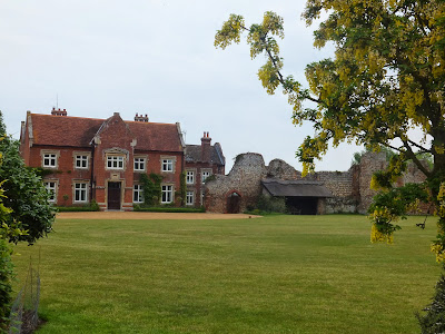 The remains of Claxton Castle in front of Claxton Manor