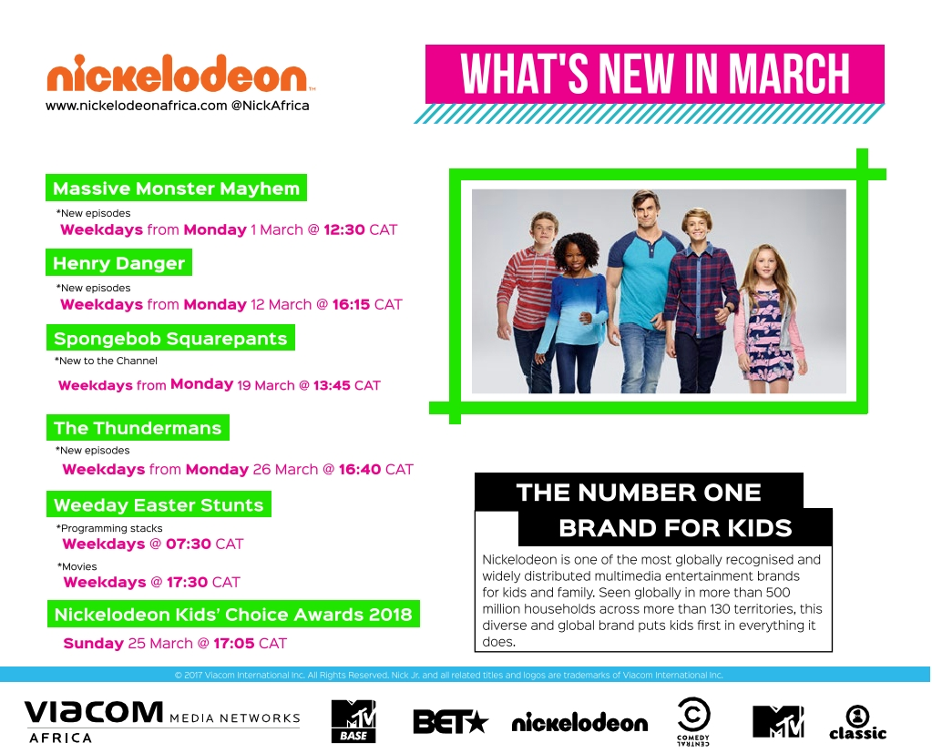 Entertainment Inside Us: Nickelodeon Africa