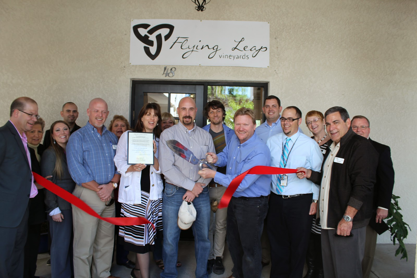 "Thank you for your support of Flying Leap Vineyards newest location at St. Phillips Plaza.  ""Take a leap and celebrate""."