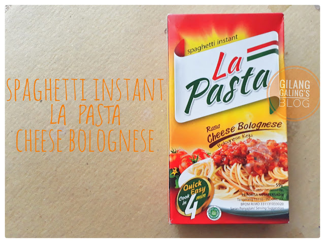 Spaghetti Instant La Pasta yang direview ini merupakan rasa Bolognese Keju