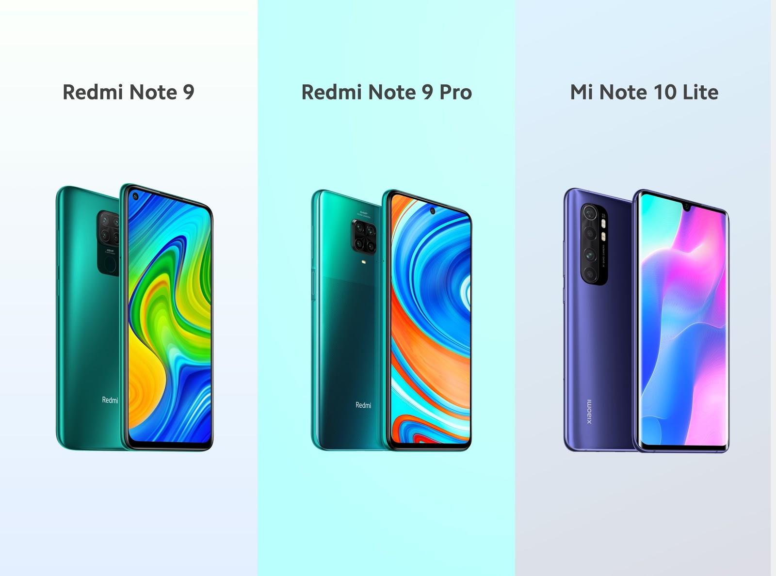สานต่อตำนาน: เสียวหมี่เปิดตัว Redmi Note 9 Pro และ Redmi Note 9 ร่วมด้วย Mi Note 10 Lite