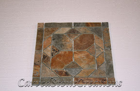 Flooring, Flooring & Mosaics, Golden, Interior, Mosaic, Multicolor, Natural, Pattern, Slate, Stone, Tile