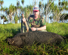 Darren O'Gradey with a big wild boar taken in April at Carmor Plains