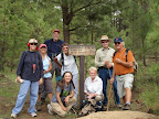 Paseo del Lobo Section 23 with Pinetop-Lakeside TRACKS hikers (Photo by J. Davis)