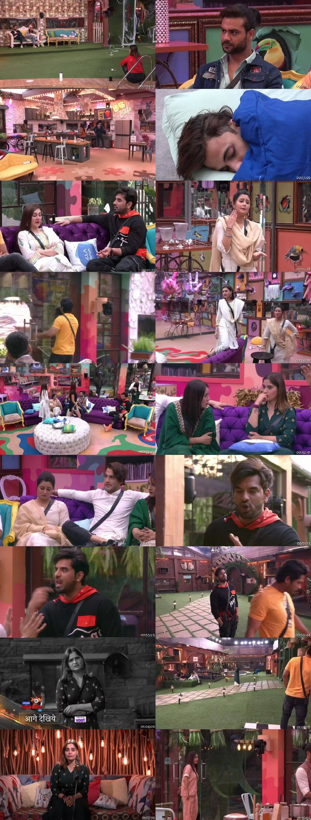 Screenshots Of Hindi Show Bigg Boss 13 24th January 2020 Episode 116 300MB 480P HD