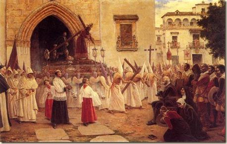 dios de la madera- contemplando la salida procesional de Nuestro Padre Jesús de la Pasión, del que es autor Joaquín Turina y Areal