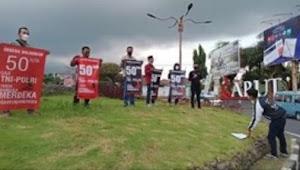 Aksi KITRA GARUT Desak Pemerintah Sejahterakan TNI POLRI