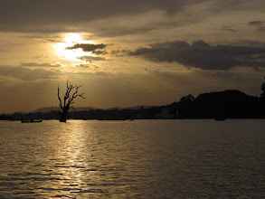 Photo: Year 2 Day 55 -  Sunset on Taungthaman Lake