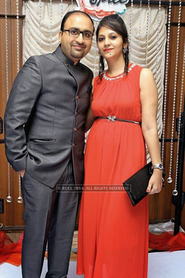 Anurodh and Dipika during a party, held at a lounge, in Indore.