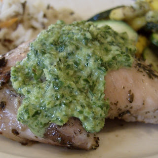 Cilantro-Lime Chicken with Chimichurri Sauce