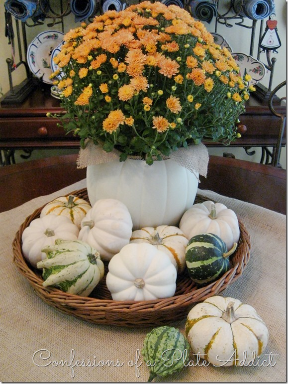 CONFESSIONS OF A PLATE ADDICT  Easy and Inexpensive Faux Pumpkin Planter7