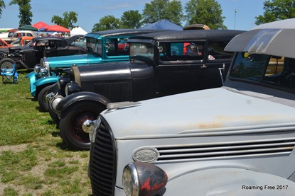Old Fords in a row